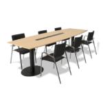 mesa de reunion pedestal
